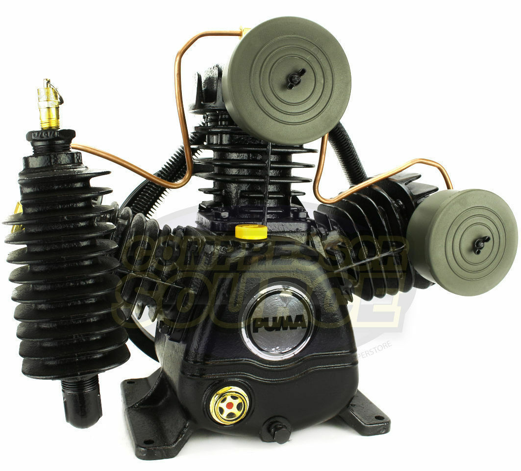Puma 3 Cylinder 2 Two Stage Cast Iron Air Compressor Pump 15 SCFM New. Buy it now for 399.95