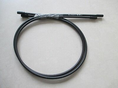 pair Shimano bike cable shift cover 560mm long black with Ferrules Caps x 2
