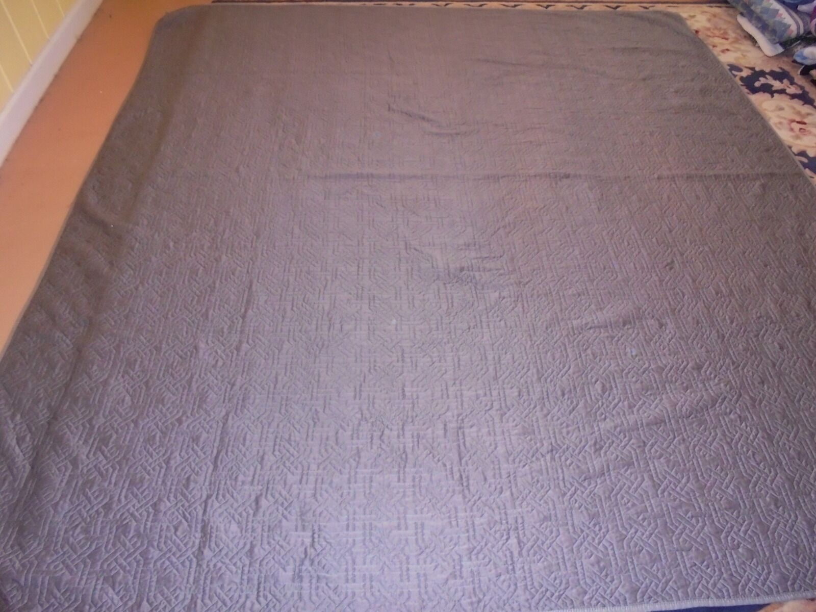 Nice Grey Whole Cloth Quilt
