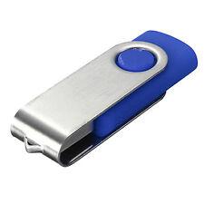 New 64GB Swivel USB 2.0 Flash Memory Stick Pen Drive Storage Thumb U Disk Blue