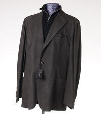 NWT $5800 CESARE ATTOLINI Green Nubuck Leather Blazer Slim-Fit 48 (Eu 58) Jacket