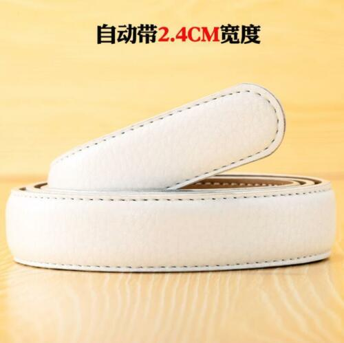 Fashion Men/'s Leather Automatic Ribbon Waist Strap Belt Without Buckle 5 Colors