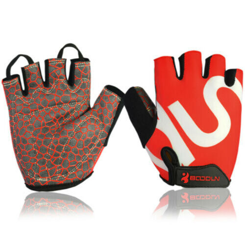 Half Finger Cycling Gloves Bicycle Outdoor Sport Breathable Anti-skid Fingerless