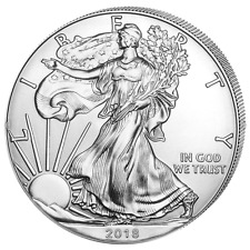 Eagle 2018 Silber 1 OZ Unze Ounce Once Silver Argent USA US American États-Unis