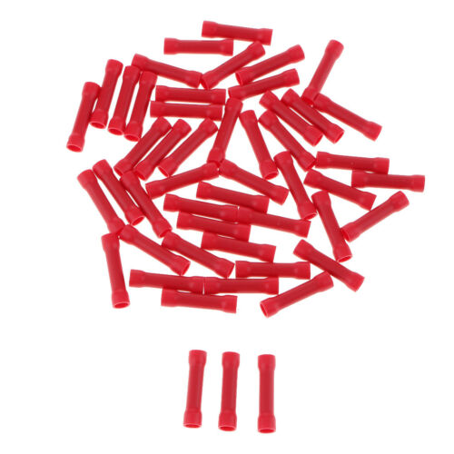 100x Insulated Straight Butt Connector Electrical Crimp Terminals Wire Cable