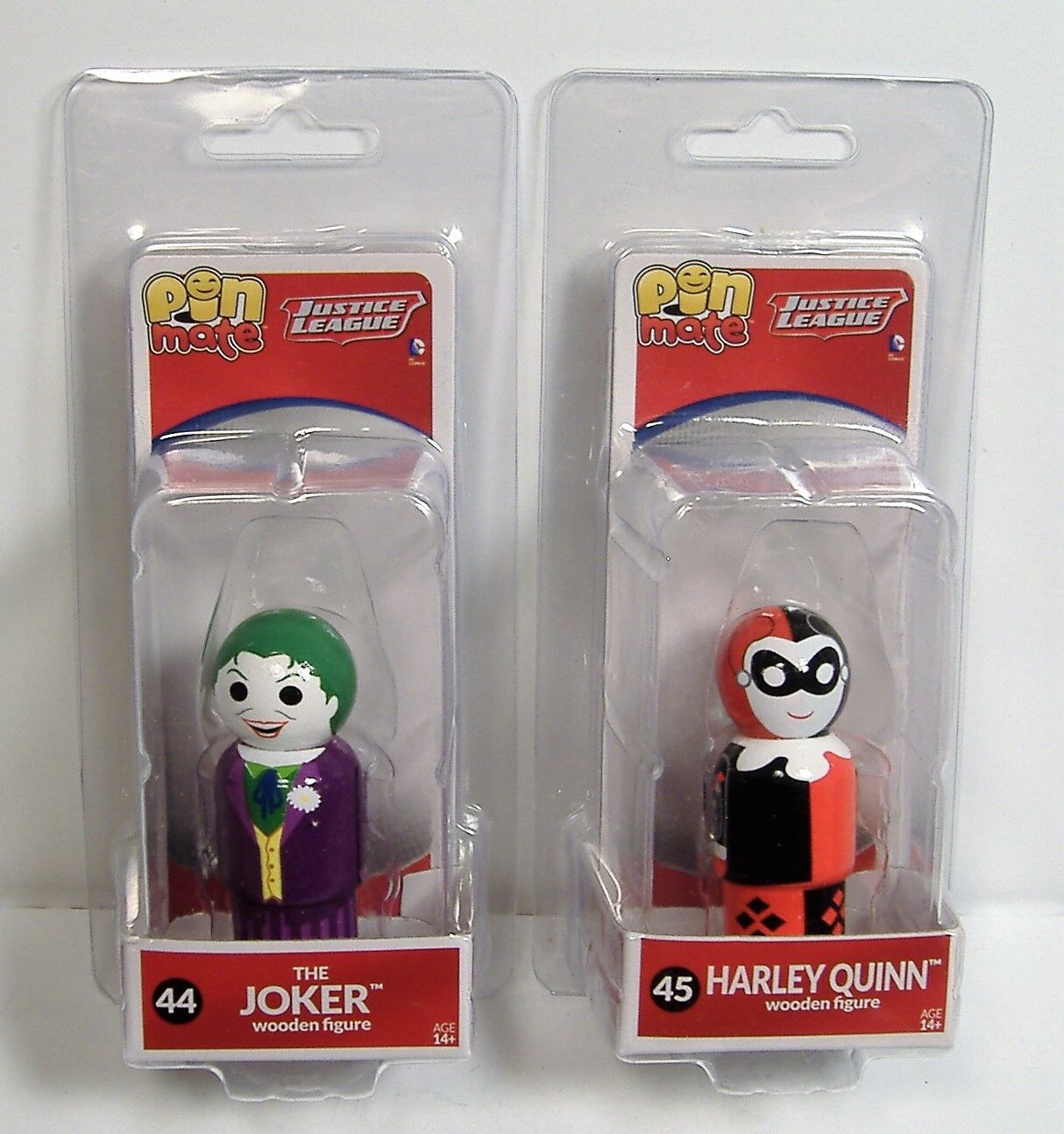 THE JOKER /& HARLEY QUINN PIN MATE FIGURE LOT DC COMICS JUSTICE LEAGUE MOSC 2016
