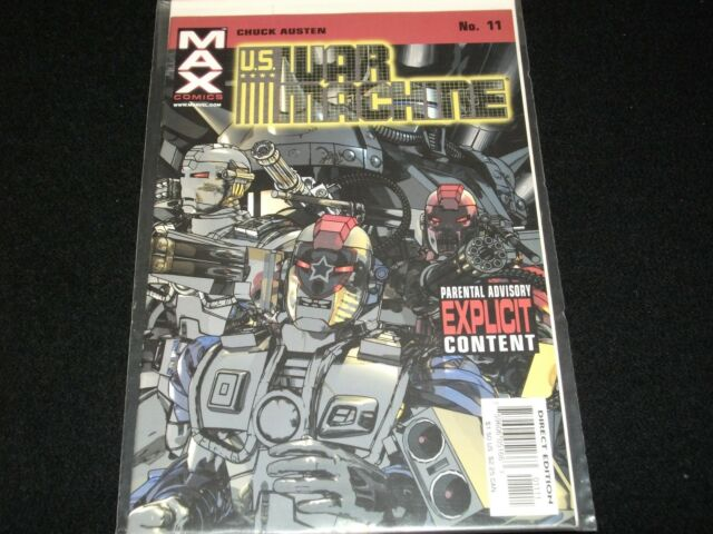 U.S. WAR MACHINE ° by CHUCK AUSTEN <>MAX  COMICS # 11 ° ° VF/NM