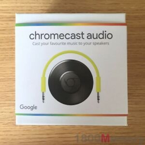 Details about Google Chromecast Audio Media Streamer | Black | Brand New