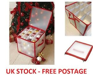 image is loading christmas decorations storage bag large plastic box baubles
