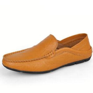 Marca Otoño Zapatos cuero genuino Hombres Mocasines de Primavera de Mocasines moda ggrqU