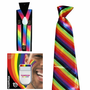 NEW-UNISEX-GAY-PRIDE-RAINBOW-BRACES-BOW-TIE-FACE-PAINT-LGBT-BRIGHTON-FANCY-DRESS