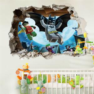 Detalles De Pegatinas De Pared Lego Batman Póster Papel Pintado 3d Calcomanía Mural Arte Para Niños Habitación Ver Título Original