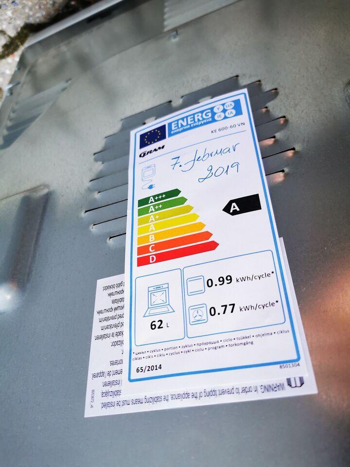 Glaskeramisk komfur, Gram KE 600-60 VN, b: 60 d: 60 h: 90