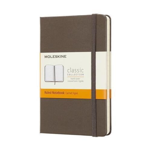 Liniert Moleskine Notizbuch Pocket//A6 Hard Cover Erdbraun