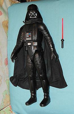 """vintage Star Wars LARGE-SIZE (12"""") DARTH VADER WITH CAPE & BROKEN SWORD doll"""