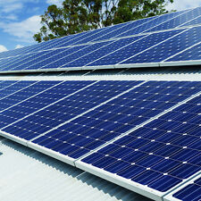 1kW 1000W Plug-In DIY Solar Panel PV Kit System- Flat Roof Mount for Garage/Shed