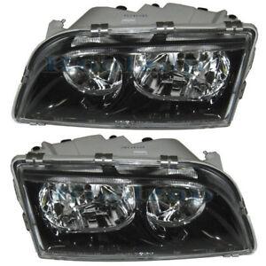 Details About Volvo S40 Headlight Headlamp Black Trim Head Light Lamp Left Right Side Set Pair