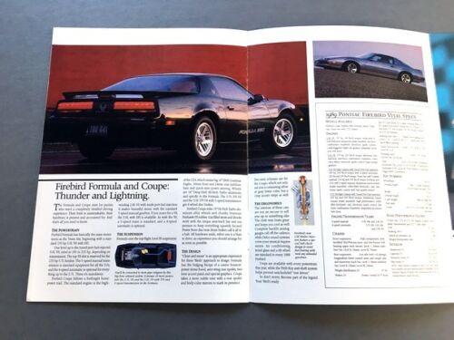 1989 Pontiac Firebird TransAm 20th Anniversary 18-page Sales Brochure Catalog