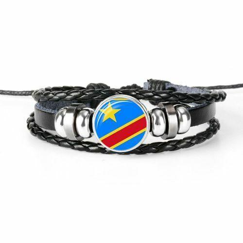 Femmes Hommes Bracelet de Surfeur Démocratique République Du Congo Chunk Cadeau
