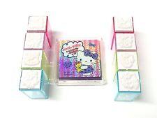 Hello Kitty Stamp Set 8 Mini Stamp Hanko Sanrio Japan Cawaii Kawaii -Free Ship