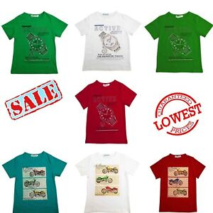 Boys T Shirts Kids Tee Shirt Children Printed Top T-Shirt Size 4-9 Years New