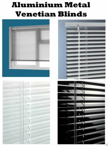 METAL ALUMINIUM VENETIAN BLINDS TRIMABLE WINDOW BLIND SLAT HOME OFFICE 25MM UK