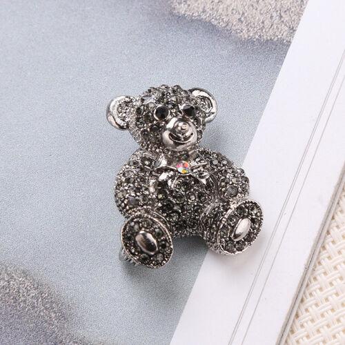 Korean Style alliage Cristal Strass Ours Mignon Broche Pin FEMMES BIJOUX CADEAU G