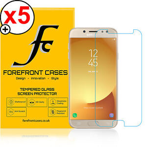 Forefront Cases 9H HD Tempered Glass Screen Protector Samsung Galaxy J7 Pro X5