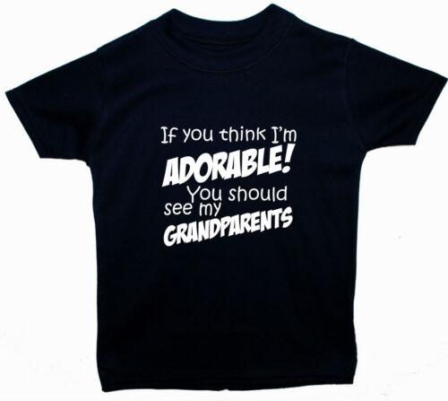 Adorable Grandparents Baby//Children T-Shirt//Top Newborn-5y Boy Girl Funny Gift