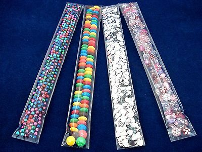 100 Clear Cello Treats Bags 25x200mm Tube Easter Thin Skinny Party FREE POSTAGE