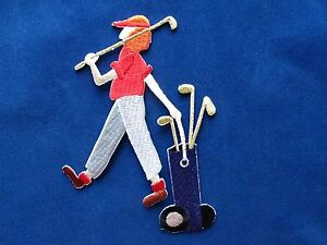 3977-Golf-Girl-Lady-w-Golf-Club-Embroidery-Iron-On-Applique-Patch