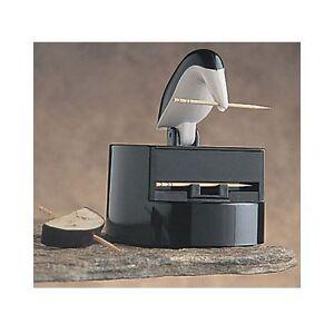 Rsvp Willie Woodpicker Black And White Woodpecker Toothpick Dispenser Holder Ebay