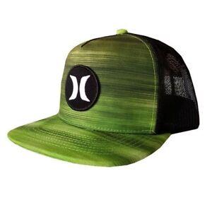 Hurley Men s Snapback Green Black BP Fast Trucker Hat MHA0008330  f6fa72dd4870