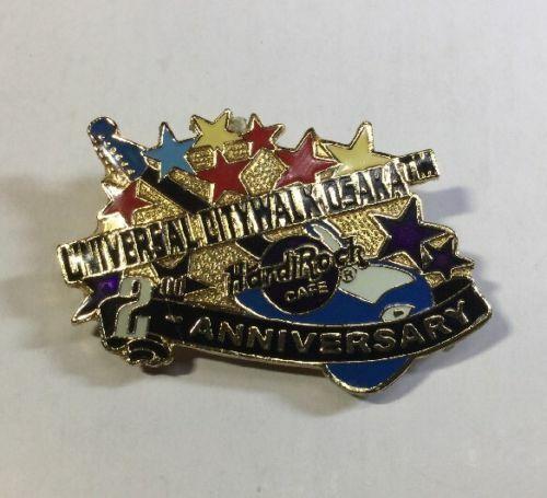 Hard Rock Cafe PinOsaka - 2003 - 2nd Anniversary Gold Pin with Blue Guitar