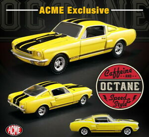 ACME-1-64-Greenlight-Caffeine-and-Octane-1966-Shelby-GT350-Yellow-51249