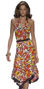 Diane Diane Diane Von Furstenberg African Zambeze Halter Wrap Silk Dress 7bb726