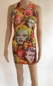 Image Is Loading Gianni Versace Vintage Print Dress Marilyn Monroe Amp