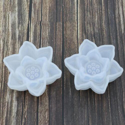 Flower Lotus Silicone Fondant Cake Sugarcraft Decorating Mold Baking Mould KS