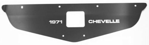 Chevelle Radiator Support Custom Cover Black 1971 and Chevelle engraved