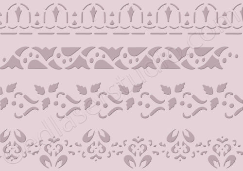 Border Lace Stencil Vintage Cake Paint Furniture Fabric Crafts Card making  BO23