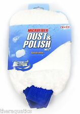 "7""x9"" White Microfiber Dust and Polish Mitt Car Detailing Speedy Shine Wet Dry"