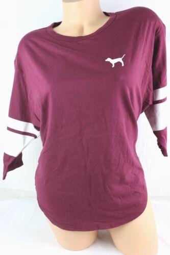 Xsmall D242 Secret Shirt Victoria's Boyfriend Logo maat Fit Relaxed Pink OXk0P8wn