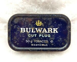 Vintage Wills Bulwark Cut Plug Tobacco Tin