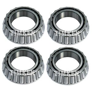 Timken Front and Rear Inner /& Outer Wheel Bearing /& Race Set For Jaguar XJ6 RWD