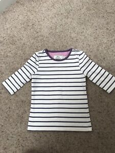 d8690921823 Details about Joules Junior Milla Top Aubergine Stripe 4 Years VGC
