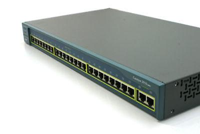 Cisco WS-C3560G-24TS-S Switch 24 Latest IOS 10//100//1000 4 SFP w// Racks 1 YrWty