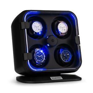 Ricondizionato-Scatola-Porta-Orologi-Tempo-Carica-Rotazione-Luce-LED-Vetrina-W