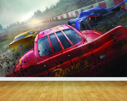 Disney Cars 3 Wallpaper Bespoke Backdrop Printed Wall Mural Feature Large Decal