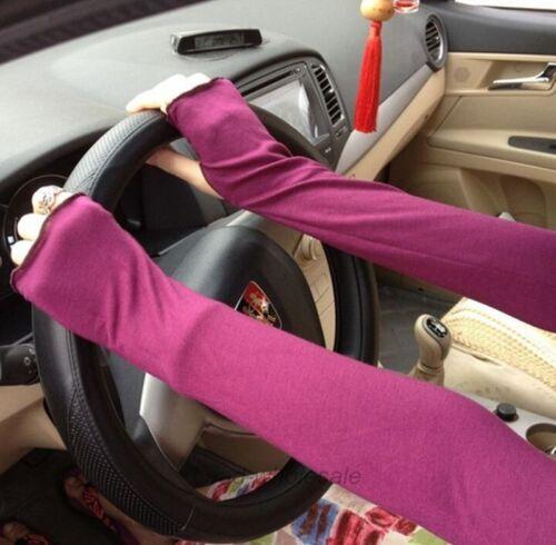 48cm  Femmes Fille Antisolaires Bras Chaud Gants Coton Long Mitaines 9 Couleurs