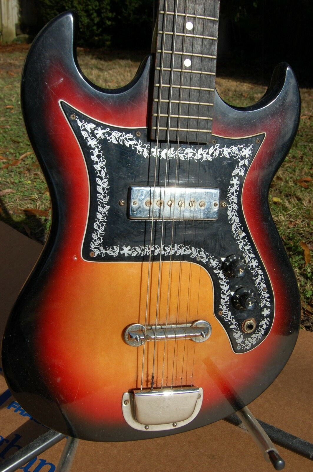 Global Korean Made Early 1970's      Solid Body Electric Guitar a8da9a